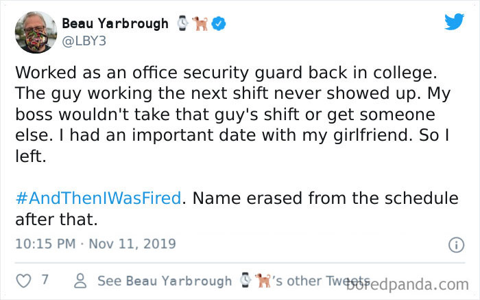 And Then I Was Fired Hashtag
