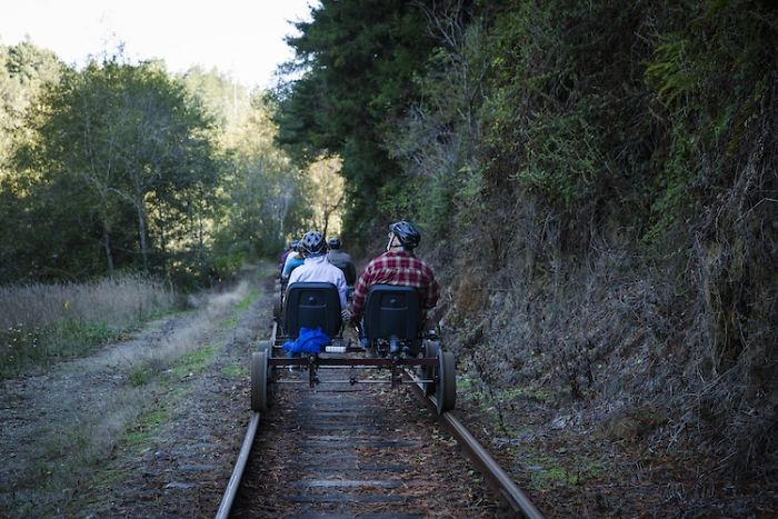 You Can Pedal Through California's Redwood Forest On A Railbike, And The Trip Looks Absolutely Stunning