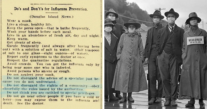 "People Are Sharing ""Do's And Don't's"" From 1918-1920 During The Spanish Flu, It Shows How History Repeats Itself"