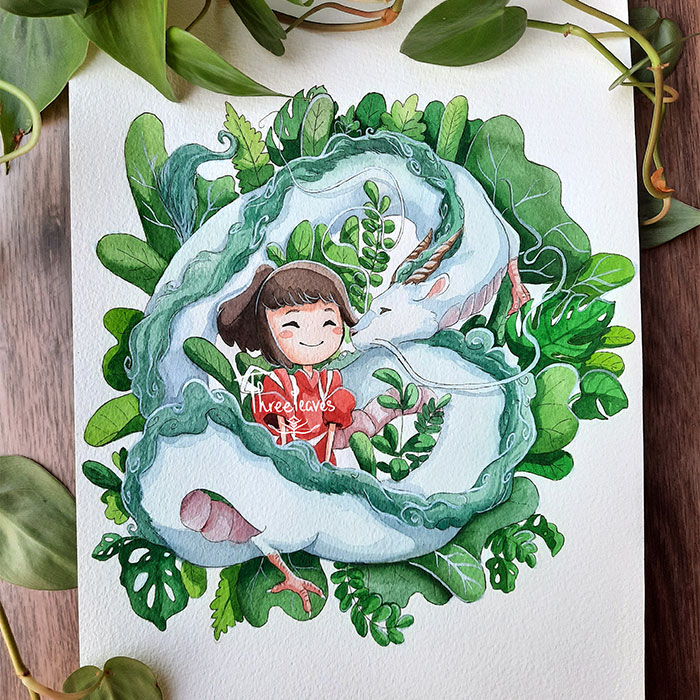 I Created These 10 Paintings Of Studio Ghibli Characters In Nature