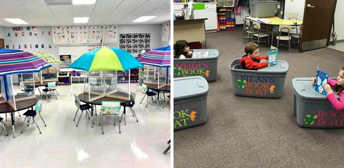31 Awesome Teachers Who Tried To Make Their Socially Distanced Classrooms Look Less Scary And Succeeded