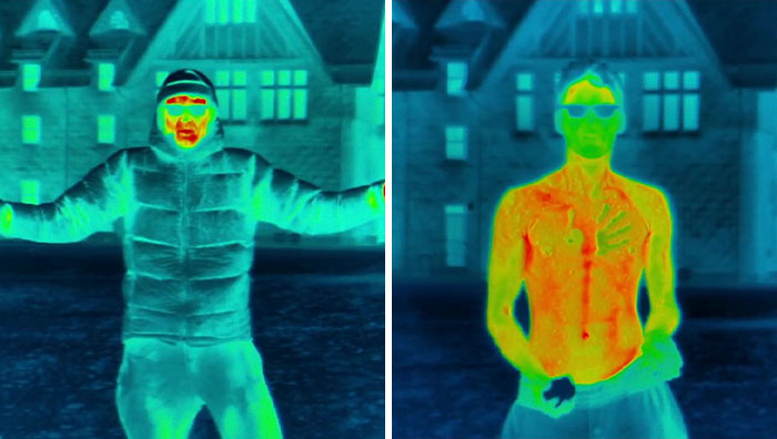 People Are Fascinated By This Video Showing Human Body Losing Its Heat When Exposed To The Blistering Cold Conditions