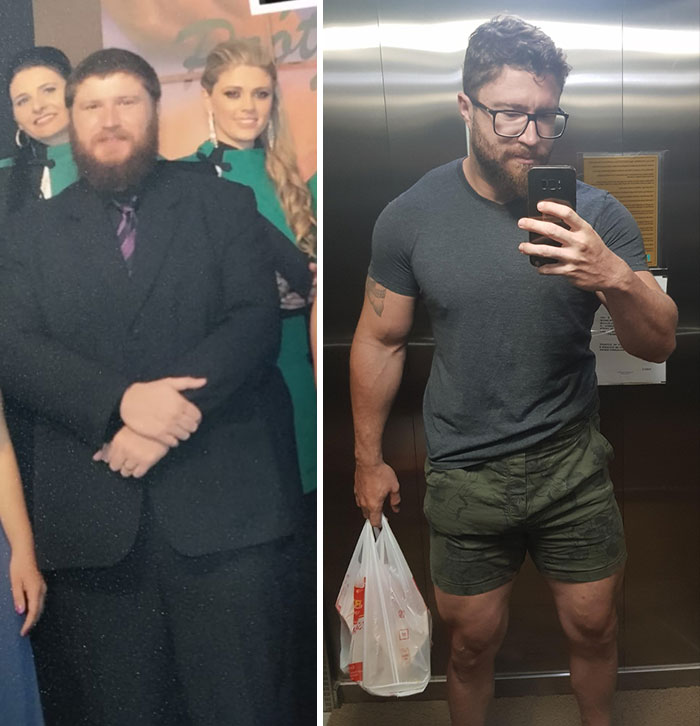 6 Years Progress. From 330 Lbs To 198 Lbs