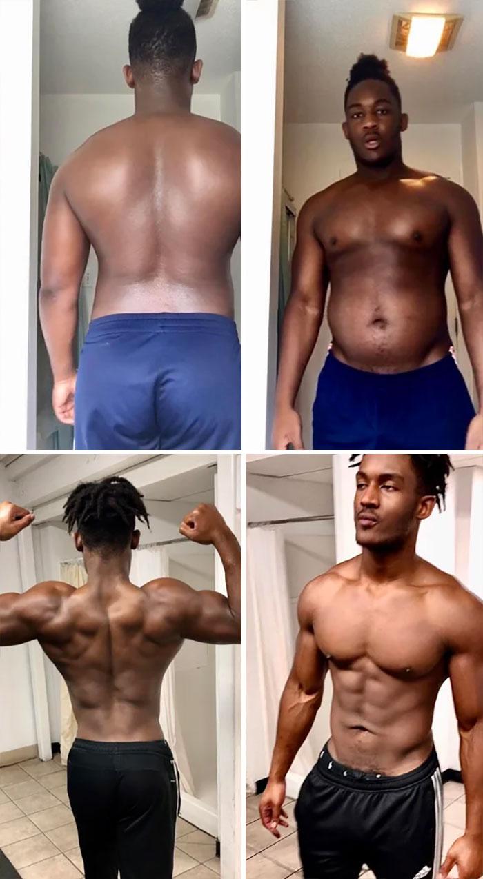 No Junk Food, Healthy Diet And My Regular Workout Regimen ( 1 Year)