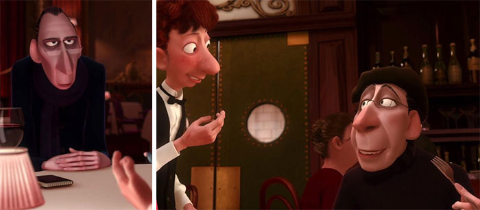"At The End Of Disney/Pixar's Ratatouille (2007) Anton Ego Is A Little Bit Fatter. This Is Especially Poignant Since He States, ""I Don't Like Food, I Love It... If I Don't Love It I Don't Swallow."""