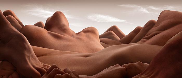 #I magnifici paesaggi formati da corpi umani