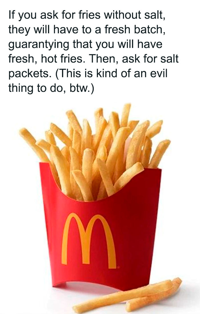 This Isn't Very Nice To Do, But Cold Fries Are Icky