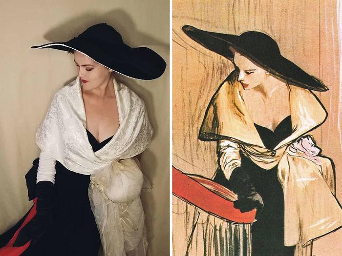 """René Gruau """"Ilustración Para Dior"""" (~1950)"""