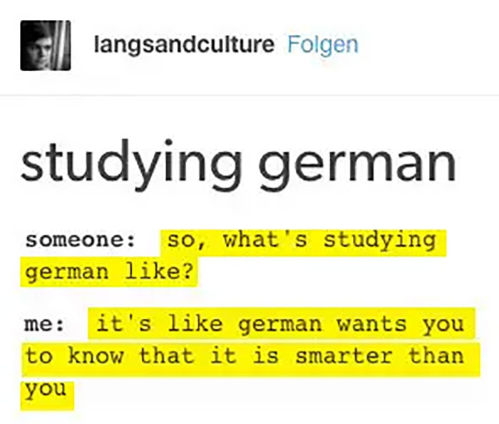 When German Language Was Only For The Brave.