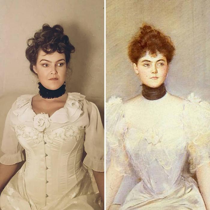 "Paul Cesar Helleu ""Retrato De Dama Con Abanico"" (~1900)"