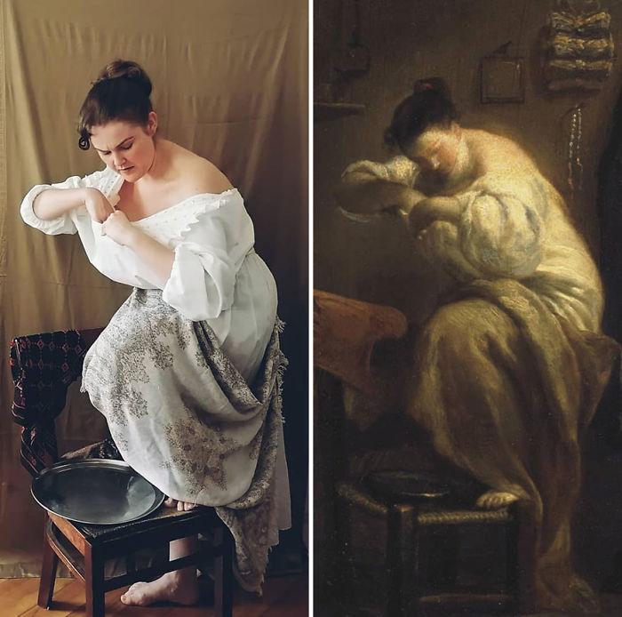 """Giuseppe Maria Crespi """"Mujer Buscando Pulgas"""" (~1710)"""