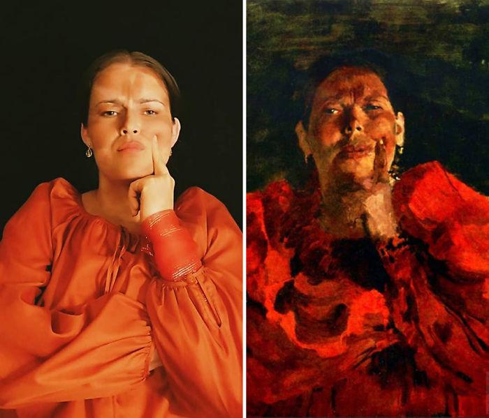 "Filipp Malyavin ""Plebeya Con Pañuelo Rojo"" (1905)"
