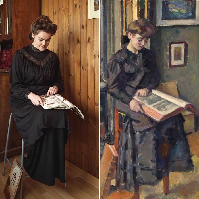 """Charles François Prosper Guérin """"Chica Leyendo Un Libro"""" (1906)"""