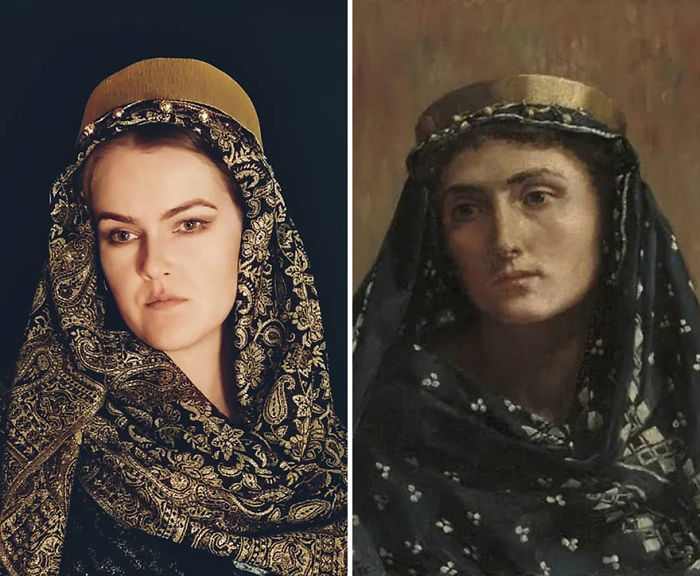 "John Collier ""Retrato De Una Dama Con Traje Oriental"" (~ 1900)"