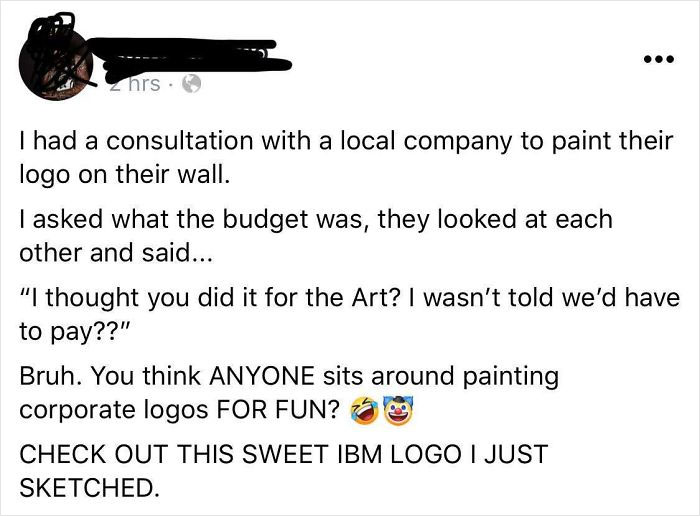 I Follow A Professional Painter Who Is Dealing With Some Corporate Choosing Beggars