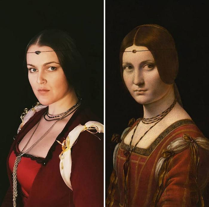 """Leonardo Da Vinci """"La Belle Ferronnière"""" (1490)"""