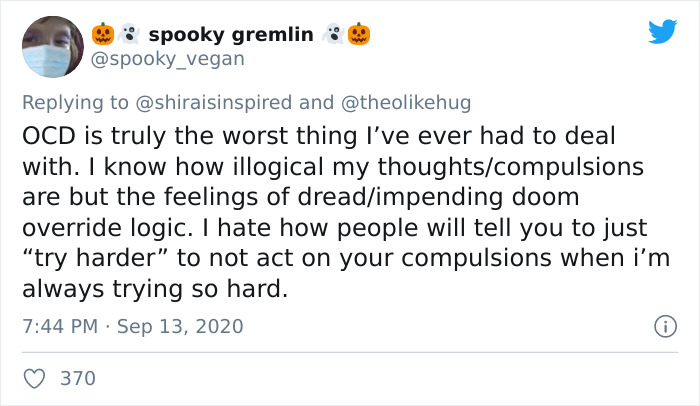 After Getting Tired Of People Misinterpreting It In The Media, Twitter User Explains What It's Really Like To Live With OCD