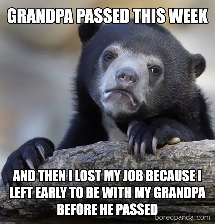 Worst Employer Award Of The Year Goes To Mine. I Don't Regret It. Love You Grandpa.