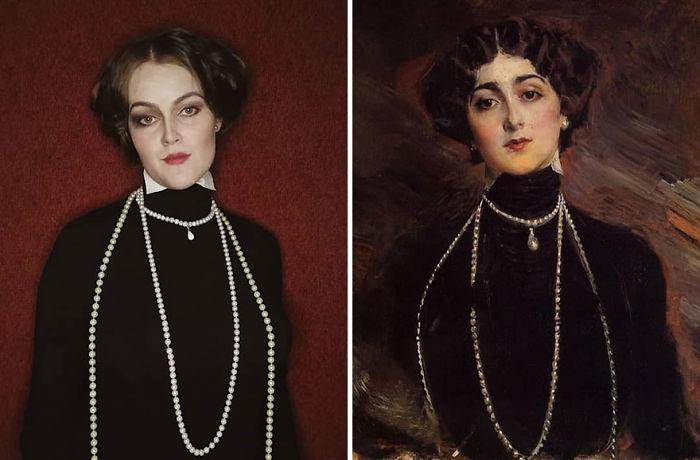 """Giovanni Boldini """"Retrato De Lina Cavalieri"""" (1901)"""