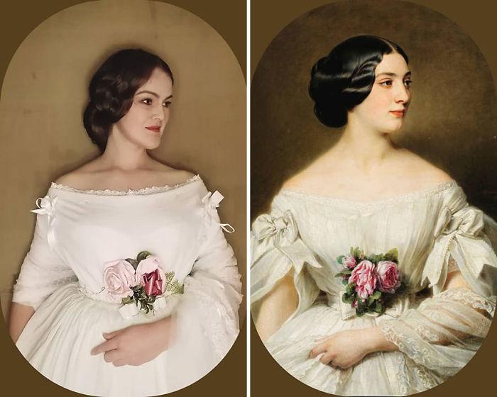 "Hermann Winterhalter ""Retrato De Clémentine De Boubers, Baronne Renouard De Bussierre"" (1854)"