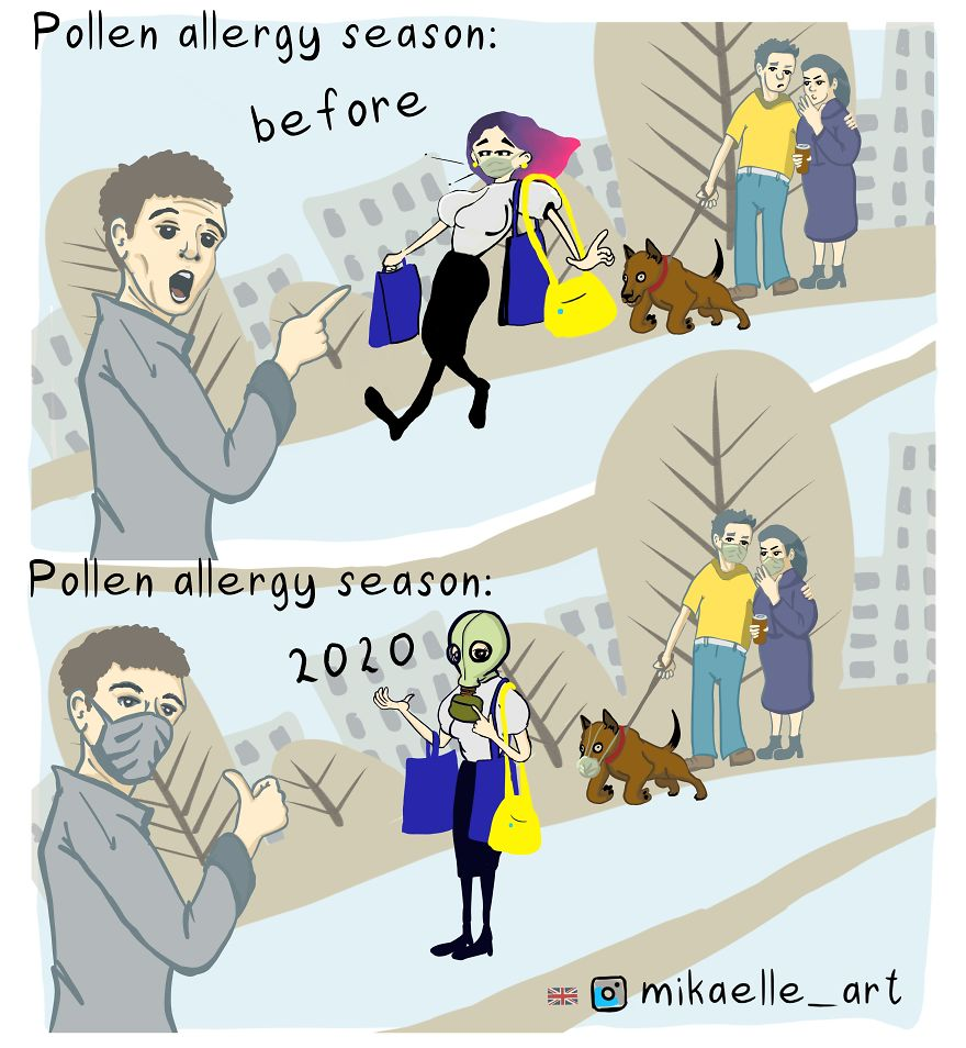 This Year People With Pollen Allergy Don't Feel Like Freaks In Masks