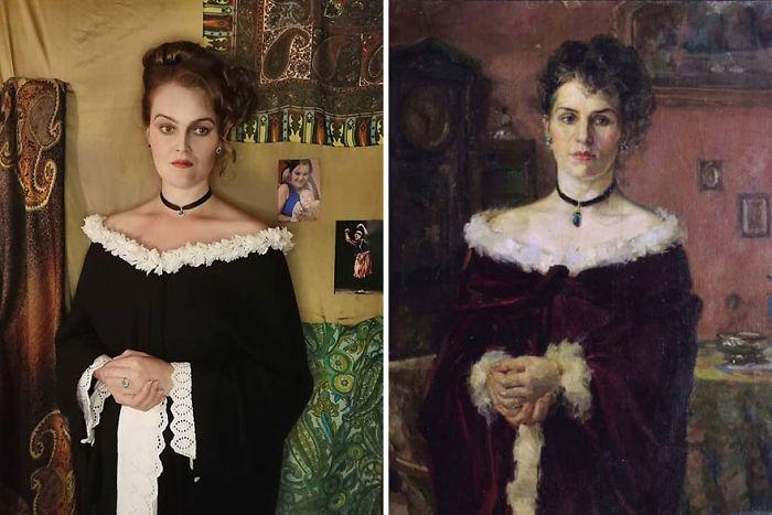 """Khariton Platonovich Platonov """"Retrato De Una Mujer"""" (1903)"""
