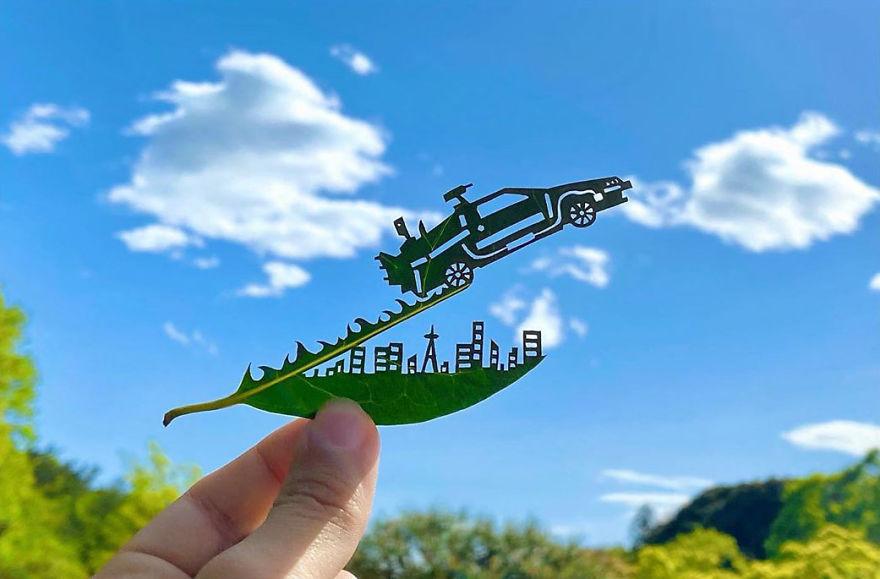 Japon Sanatçıdan Yapraklardan Sanat Eserleri - www.dergikafasi.com