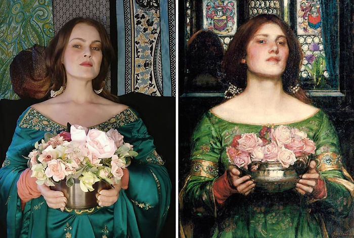 "John William Waterhouse ""Gather Ye Rosebuds While Ye May"" (1908)"