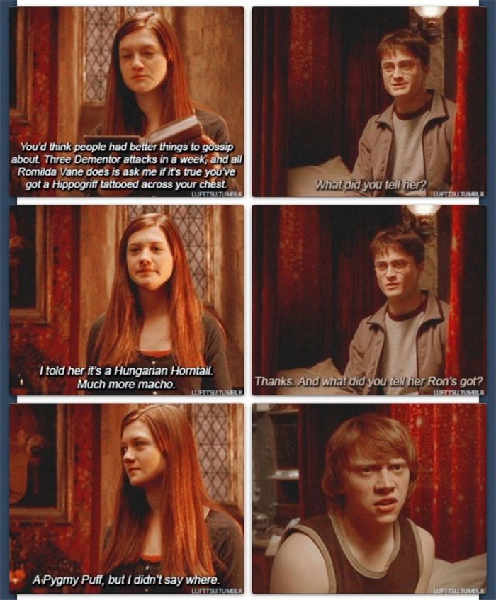 Ginny Tells Some Gossip