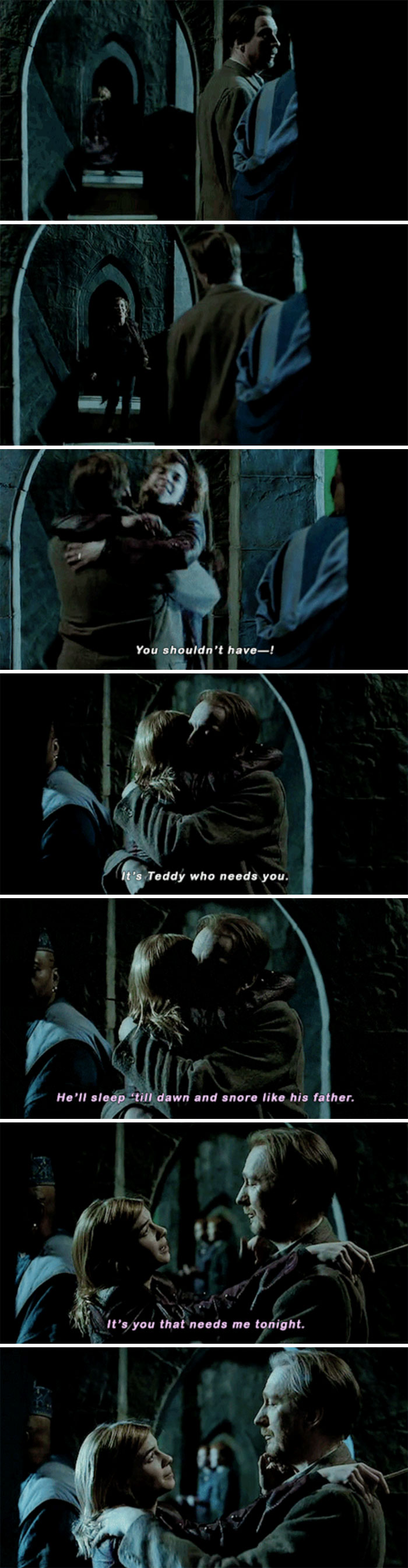 Tonks And Lupin Embrace (Deathly Hallows)