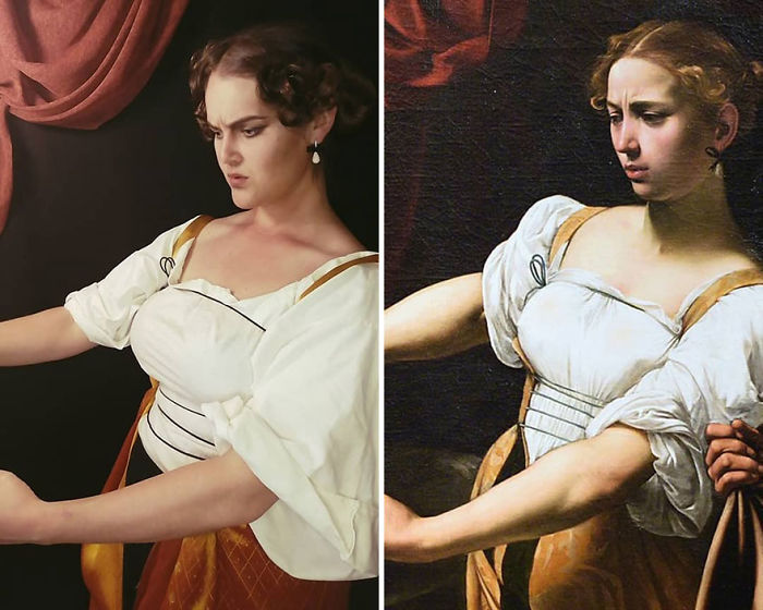"Caravaggio ""Judith Decapitando A Holofernes"" (1599)"