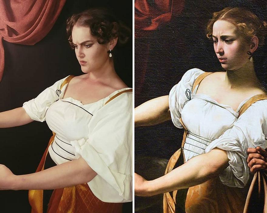"Caravaggio ""Judith Beheading Holofernes"" (1599)"