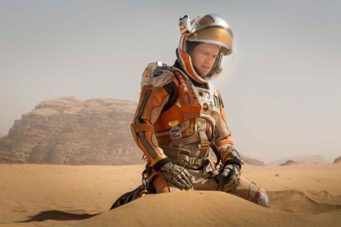 "In The Movie The Martian (2015) The Main Character Says ""I'm Going To Survive"", Within The First 10 Minutes. This Foreshadows That The Main Character Does Infact Survive And He Spoils The Movie For The Viewers. Fu*k You Matt Damon You Spoiling Bit*h"