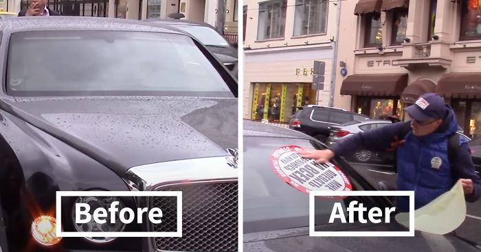 'Stop A Douchebag' Movement Plasters Huge Stickers On Cars To Stop Arrogant Traffic Rule Violators