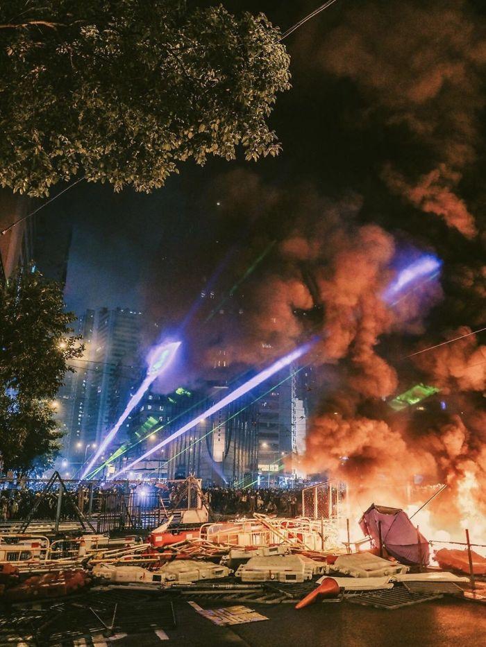 Las protestas de Hong Kong parecen un futuro distópico