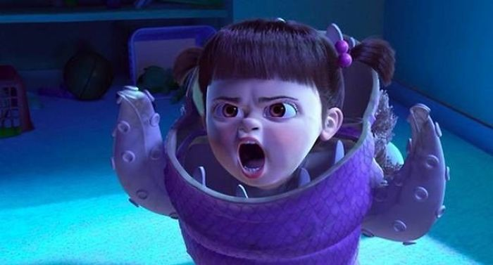 For Monsters Inc. (2001) Due To Mary Gibbs Who Played Boo Being So Young, It Was Difficult To Get Her To Stay In The Recording Booth To Perform Her Lines. So They Decided To Follow Her Around With A Microphone And Cut Her Lines Together Using The Random Things/Noises She Say Whilst Playing