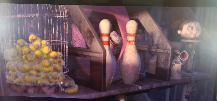 Wall-E. My 8 Year Old Noticed Rex, While Wall-E Is Organizing His Findings In His Home
