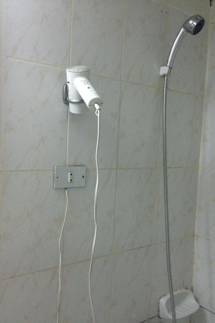 Hair Dryer And Shower Combo In Cairo Hotel