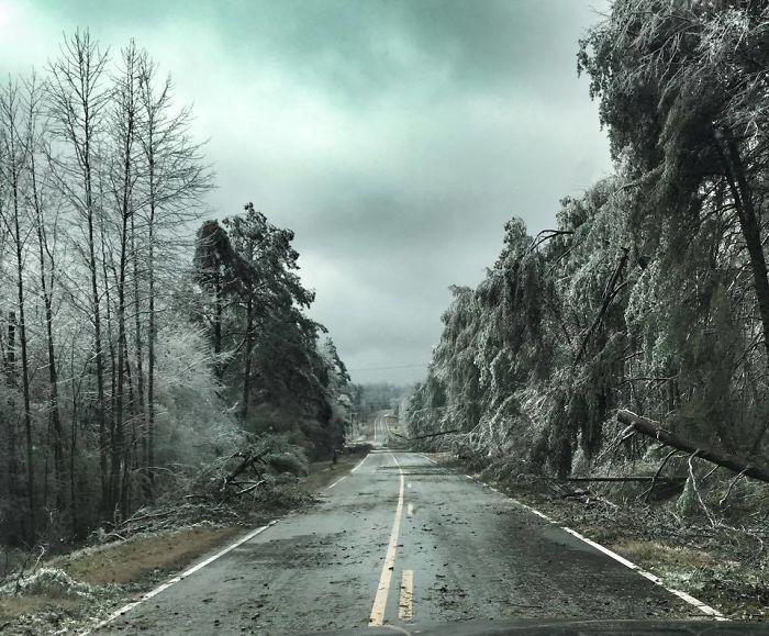 Tras la ventisca helada en el norte de Georgia, parece una película apocalíptica