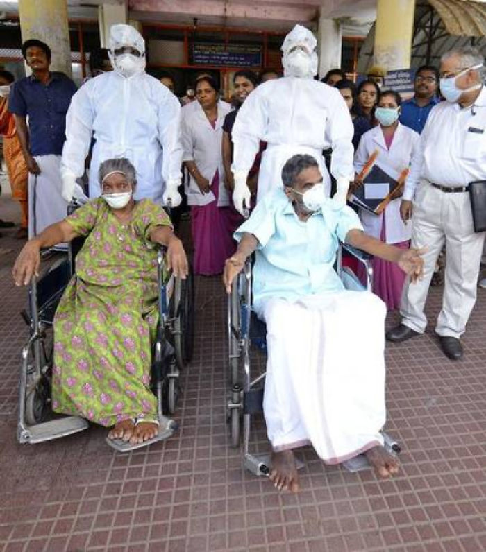 A 90+ Year Old Couple That Recovered From Corona-Virus In India. If They Can Then We Can Too