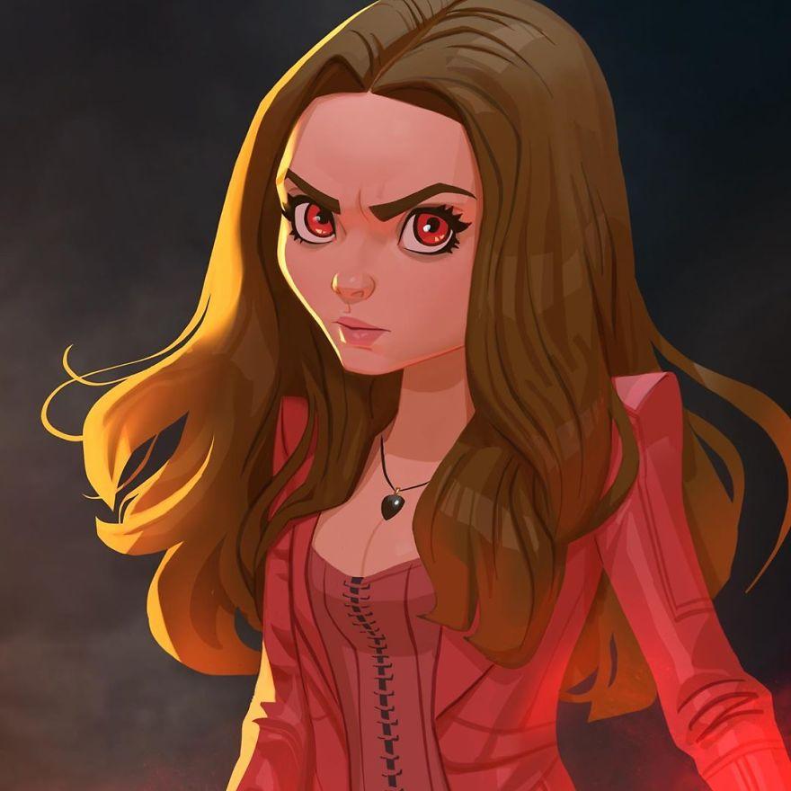 Elizabeth Olsen (Scarlet Witch)