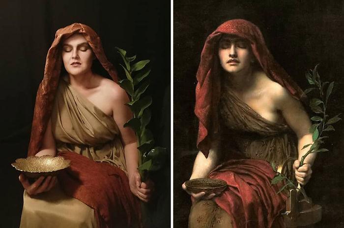 "John Collier ""Sacerdotisa De Delfi"" (1891)"