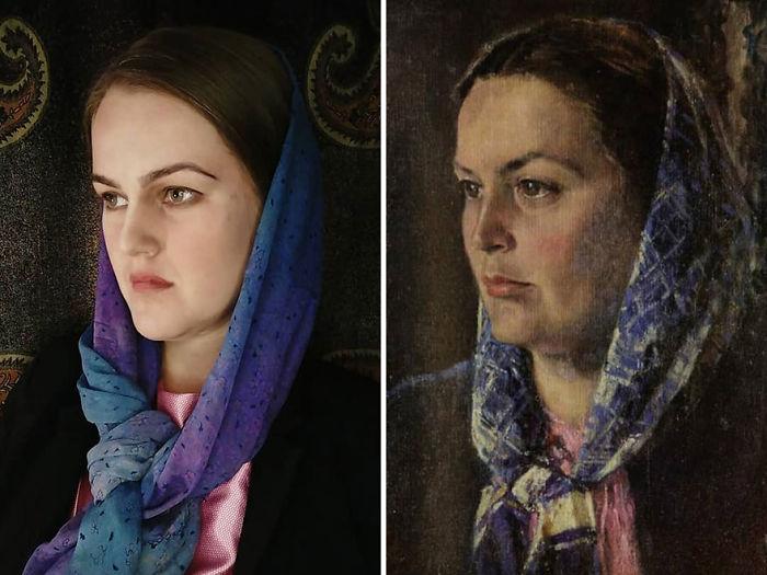 """Alexander Nikolaevich Samokhvalov """"Retrato De Mujer"""" (1960s)"""