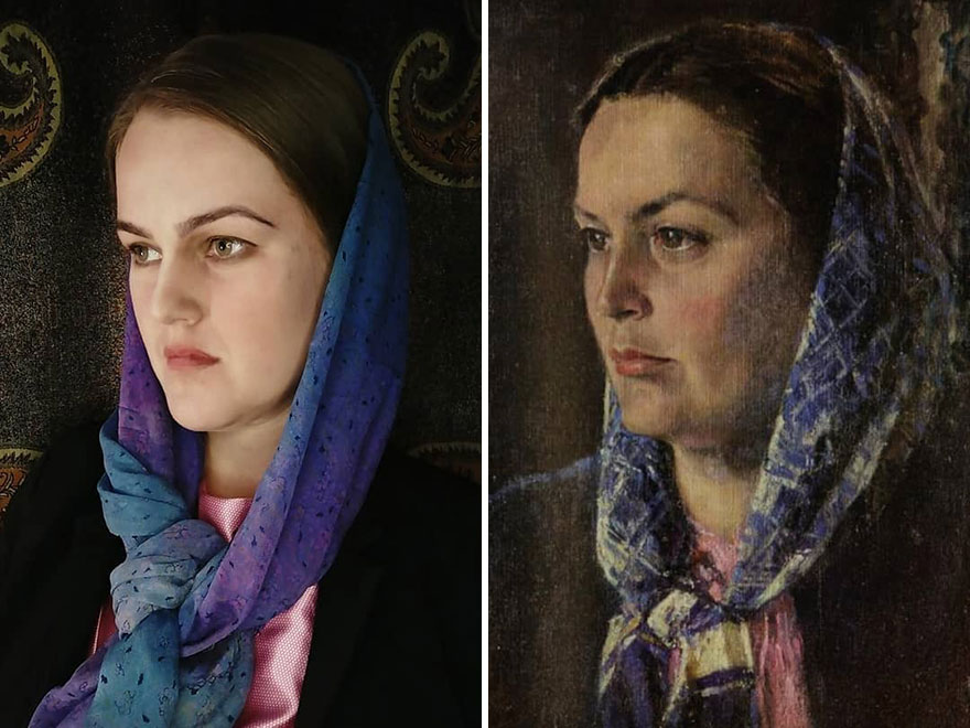 """Alexander Nikolaevich Samokhvalov """"Portrait Of A Woman"""" (1960s)"""