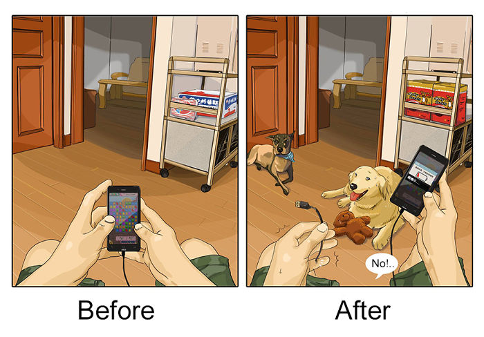 Life-Before-After-Pets- Illustrations-Mai-John