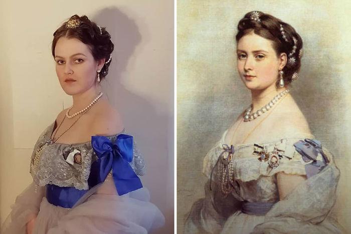 """Franz Xaver Winterhalter """"La Princesa Victoria De Prusia"""" (1867)"""