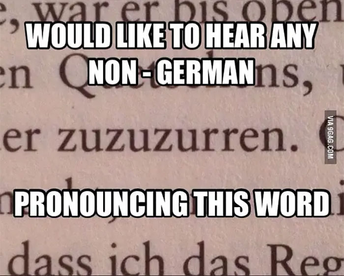 When German Words Looked Like They Have To Be Kidding You