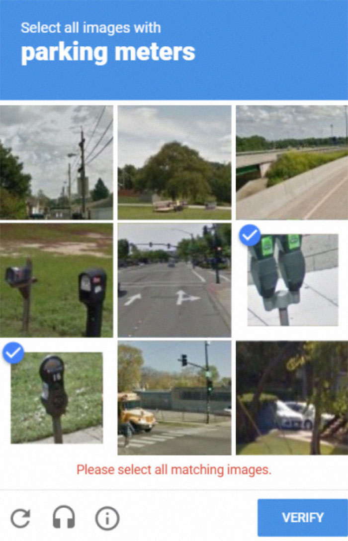 Captcha Thinks Mailboxes Are Parking Meters