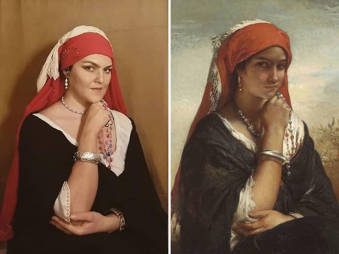 """Jean-Francois Portaels """"El Collar"""" (~1850)"""