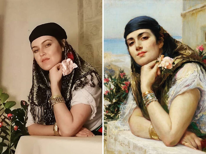 "Frederick Arthur Bridgman ""Mujer De Argelia"" (~1900)"